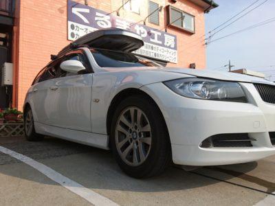 【E91 BMW 320i ツーリング】車載監視カメラ&ドライブレコーダー取付