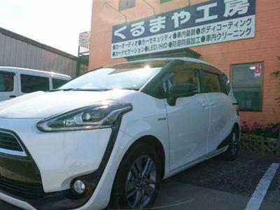 【シエンタ】タイヤハウス、ロードノイズ対策施工