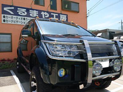 【デリカ D:5】新商品ドライブレコーダーをセキュリティー連動取付!