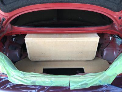 ウーハーボックスはバスレフ仕様に製作!