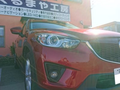 【KE系 CX-5】板金修理+超撥水性コーティング施工