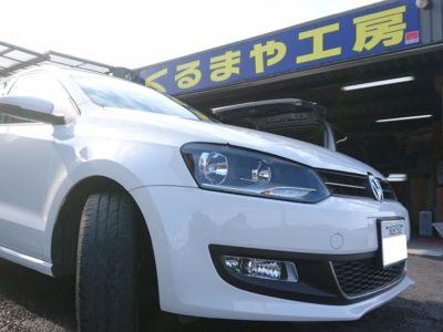 【6R型 VW Polo】Aピラー加工埋込 ツィーター取付