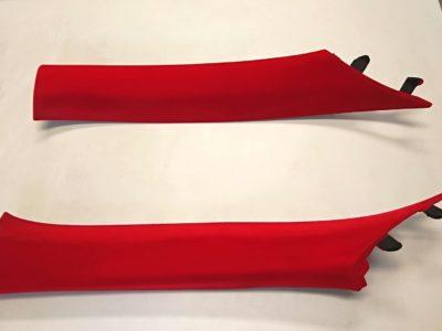 【86】Aピラー トリム フロッキーコーティング (植毛塗装)施工