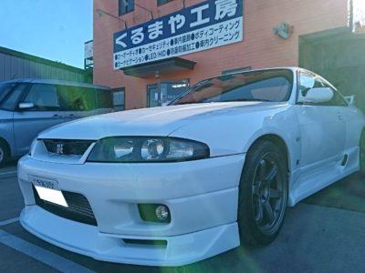 【R33 スカイライン GT-R】カーセキュリティー取付