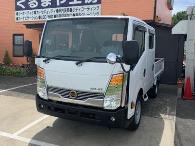 【日産・F24アトラス】ナビ移設加工・ドライブレコーダー・LEDヘッドライトバルブ交換