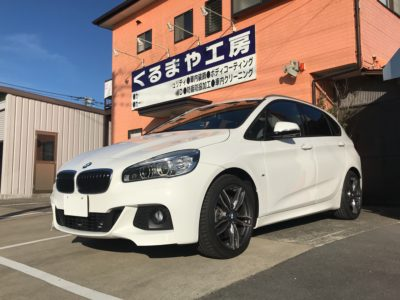 【BMW 225i】タイヤハウスの制振遮音でロードノイズ対策施工!