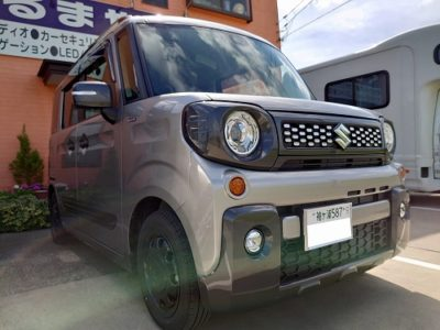 【スズキ・スペーシアギア】パナソニック 7インチワイドSDナビ CN-RE05WD取付け。