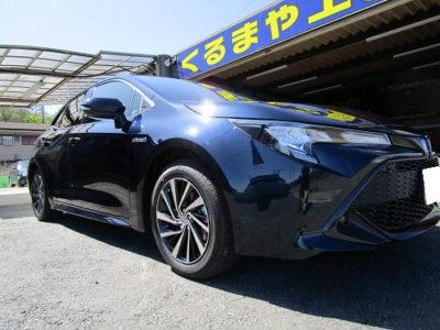 トヨタ・カローラスポーツ ロードノイズ対策ルーフ・フロア(天井・床)制振・遮音施工