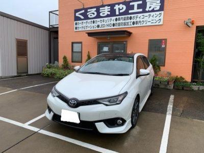 【トヨタ オーリス】ロードノイズ対策 タイヤハウス制振遮音施工