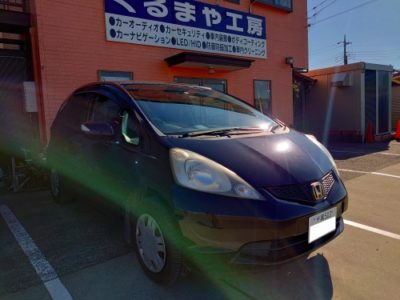 【フィット GE系】ナビ取付、ヘッドライト、ポジションランプLED化
