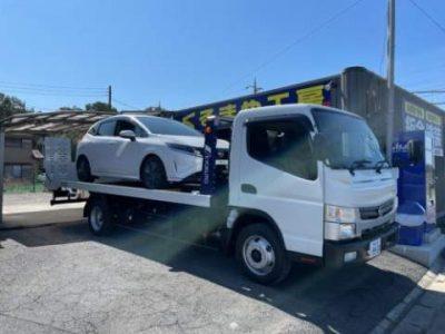 快晴の月曜日は社用車二台、積載車&新型ノートE13の作業